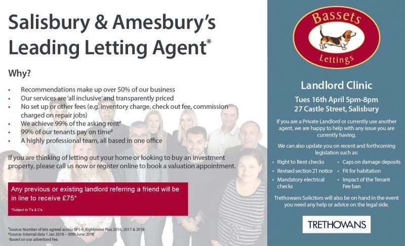 Landlord Clinic – Tuesday 16th April